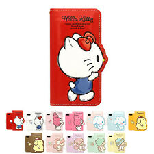 Hello Kitty 3D Silhouette Leather Slim Flip Diary Case For Apple iPhone 5 5S SE