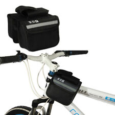Cycling Bicycle Bike Top Frame Front Pannier Saddle Tube Bag Double Pouch PF