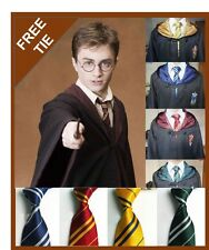NEW HARRY POTTER YOUTH / ADULT CLOAK ROBE COSTUME - Small - XXL - WITH FREE TIE
