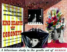 Kind Hearts and Coronets Ealing Studios Vintage Movie Poster Reproduction