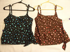 BAREFOOT MISS Size 6 8T 10 Polka Dot Side Band Tie Swim Top Swimsuit Choice NWT