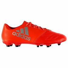 adidas X 16.3 Leather FG Firm Ground Football Boots Mens Red Soccer Cleats Shoes