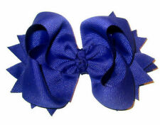 Girls Boutique Royal Blue Spikey Nautical Hair Bows Toddler 4 5 inch Hairbows