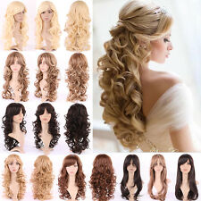 Graceful Sexy Girls Cosplay Full Wig Long Straight Wavy Ombre Costume Wigs 6sfmx