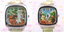RARE MOOMIN & FRIENDS SQUARE QUITZ PAINTED BAND WATCH W/ GIFT BOX 3G1221