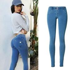 2017 Jeans Femme Taille Basse Elastic Waist Jeggings Jeans Mujer Push Up Slim