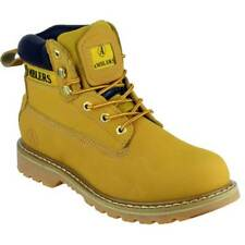 Amblers Mens Tavistock Lace Up Leather Fabric Lined Casual Boot Yellow
