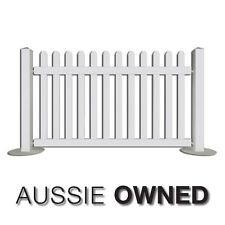 PORTABLE EVENT PICKET FENCING - Temporary Fence | White | 2 Lengths Available
