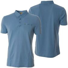 Gabicci Mens Blue Polo Shirt Short Sleeved Button Up Collared Designer Top S-L