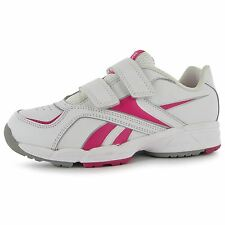 Reebok Almotio 2V Trainers Junior Girls White/Pink Sports Shoes Sneakers