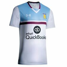 Under Armour Aston Villa FC Away Jersey 2016 2017 Mens White Football Soccer Top