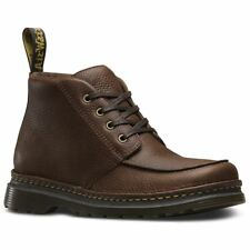 Dr.Martens Austin Dark Brown Mens Grizzly Leather Combat Boots