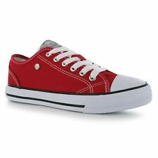 Dunlop Canvas Casual Trainers Womens Red/White Sneakers Shoes Footwear