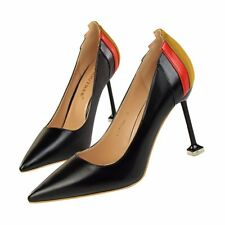 Artificial PU Simple Stiletto High Heel Pointed Toe Muilt-color Women Pump Shoes