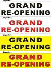 3ftX10ft Custom Printed GRAND RE-OPENING (Reopening) Banner Sign
