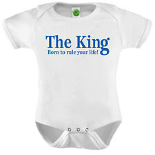 The King Onesie ORGANIC Cotton Romper Baby Shower Gift Funny Present