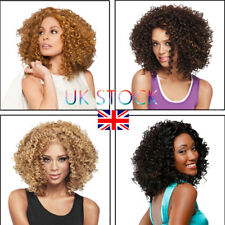 UK Black Womens Wavy Curly Short Hair Afro Hair Cosplay Hairpieces Full Wigs DIY