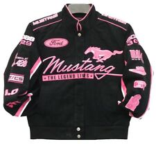 2017 Authentic Mustang Women Black Pink Cotton embroidered Jacket JH Design