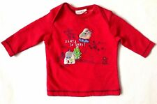 Next Baby Girl`s Red Christmas Top T-Shirt Size Up to 3mths,6-9mths