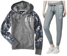 AEROPOSTALE WOMENS HOODIE AND SWEAT PANTS SET AERO ZIP JOGGING SUIT JOGGER