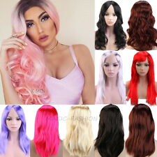 15% Off Cosplay Full Wig Long Wavy Curly Straight Costume Fancy Dress Hot Pink p