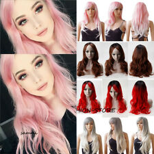 Fashion Anime Cosplay Full Wig Long Wavy Curly Heat Resistant Wigs Costume Dress