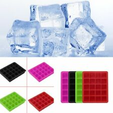 20-Cavity Large Cube Ice Pudding Jelly Maker Mold Mould Tray Silicone Tool WR