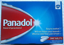 Panadol 500mg Tablets 24,48,120,144,240,480 for Headache,Cold,Fever Flu,Body,etc