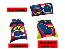 Adelaide Crows AFL Pillow Quilt Cover Set: Single, Double, Queen & King Bed