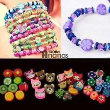 100Pcs Mixed Fimo Polymer Clay Spacer Beads AN18
