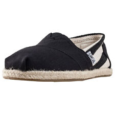 Toms University Classic Stripe Womens Slip On Black White New Shoes