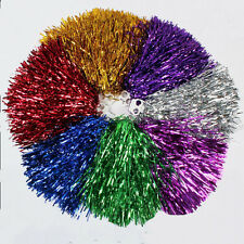 1X/1Pair Handheld Pom Poms Cheerleader Cheerleading Cheer Pom Dance Party ClubQZ