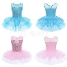 Kids Girls Dance Party Ballerina Princess Dress Ballet Gymnastics Tutu Costumes