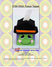 Witch Tissue Topper-Halloween-Plastic Canvas Pattern or Kit
