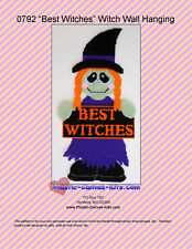"""Best Witches"" Witch Wall Hanging-Halloween-Plastic Canvas Pattern or Kit"