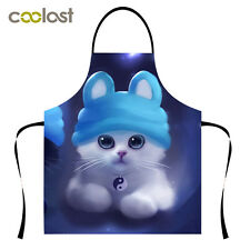 New Lovely Cat Kitchen Apron Womens Chelfs High Quality Cooking Pinafore Apron
