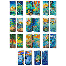 OFFICIAL DREW BROPHY SURF ART 2 LEATHER BOOK WALLET CASE FOR APPLE iPHONE PHONES