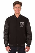 Los Angeles Kings Wool & Leather Reversible Jacket with Embroidered Logos Black