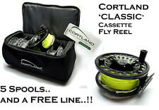 Cortland CLASSIC Cassette Fly Fishing Reel & FREE LOADED FLY LINE (RRP £99.97!!)