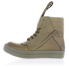 RICK OWENS New Woman Sneaker in Leather with Inner Zip Made Italy NWT