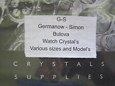 GS Watch Crystal for Vintage Bulova Wristwatches various sizes NOS