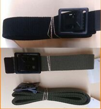Military Web Belt Black & OD with Black Open Face Buckle
