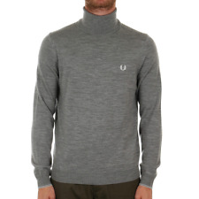 Fred Perry Classic Merino Roll Neck Sweater - Steel Marl