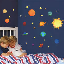 Solar System wall stickers for kids rooms Stars outer space sky wall decals ....