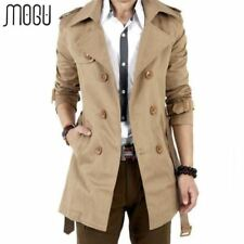 Trench Coat Double Breasted Outerwear Men's Jacket