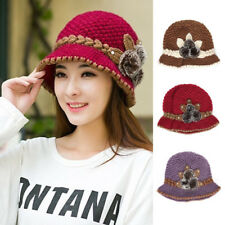 Women Beret Slouch Baggy Cap Soft Knit Wool Crochet Beanie Ski Winter Warm Hat