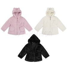 Winter Warm Toddler Kids Baby Girl Coat Faux Fur Hooded Outerwear Jacket Clothes
