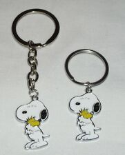 Snoopy with Woodstock Charm Key chain or Stainless Steel Key ring Handcrafted