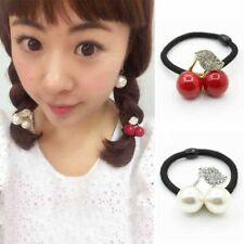 Rubber Band Hair Bands Hair Accessories Cherry Sweet Pearl Women Elastic Girls