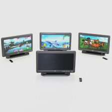 DIY Miniature Furniture TV Television with Remote Control Dollhouse Decor Well